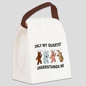 ANIMAL QUARTET Canvas Lunch Bag