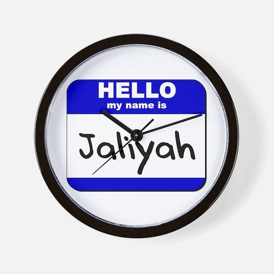 hello my name is jaliyah  Wall Clock