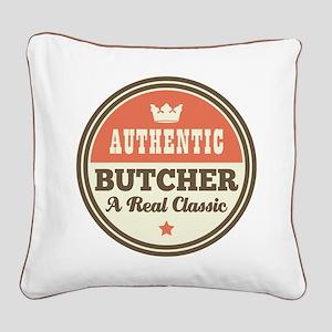 Butcher Vintage Square Canvas Pillow