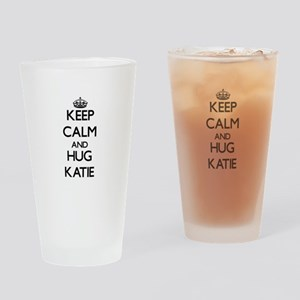 Keep Calm and HUG Katie Drinking Glass
