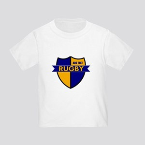 Rugby Shield Blue Gold Toddler T-Shirt