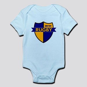 Rugby Shield Blue Gold Infant Bodysuit