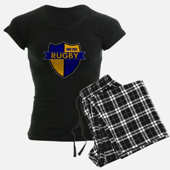 Rugby Shield Blue Gold Pajamas