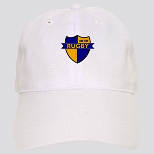 Rugby Shield Blue Gold Cap