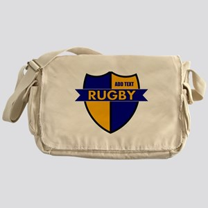 Rugby Shield Blue Gold Messenger Bag