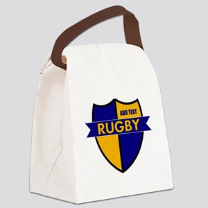 Rugby Shield Blue Gold Canvas Lunch Bag