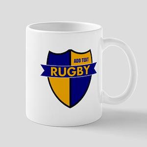 Rugby Shield Blue Gold Mug