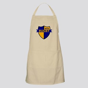 Rugby Shield Blue Gold Apron