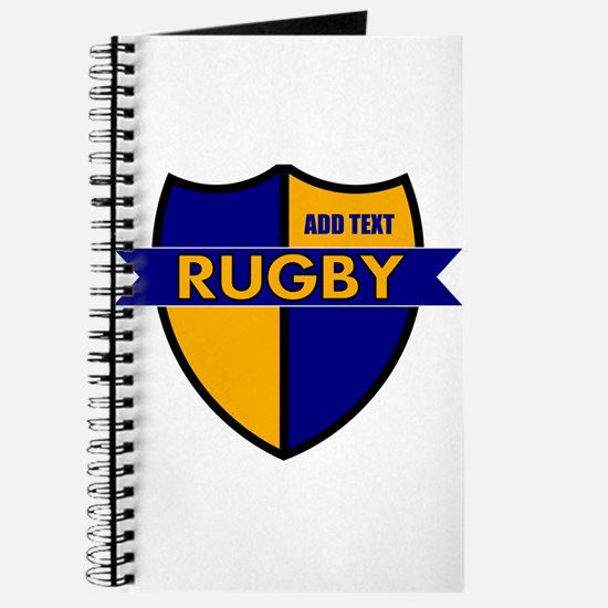 Rugby Shield Blue Gold Journal