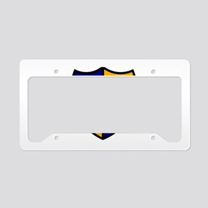 Rugby Shield Blue Gold License Plate Holder