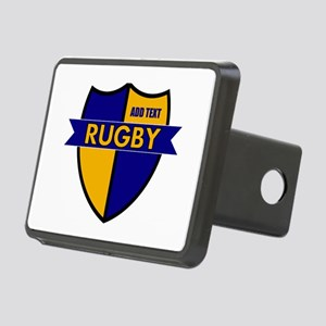Rugby Shield Blue Gold Rectangular Hitch Cover