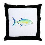 Bluefin Trevally Throw Pillow