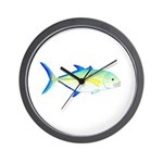 Bluefin Trevally Wall Clock