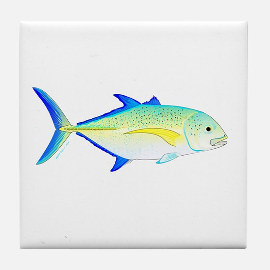 Bluefin Trevally Tile Coaster