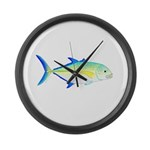 Bluefin Trevally Large Wall Clock