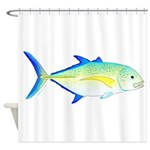 Bluefin Trevally Shower Curtain