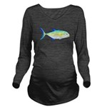 Bluefin Trevally c Long Sleeve Maternity T-Shirt