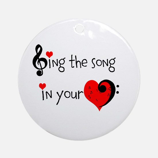 Heart Song Ornament (Round)