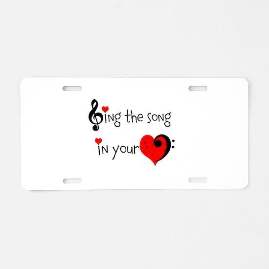 Heart Song Aluminum License Plate