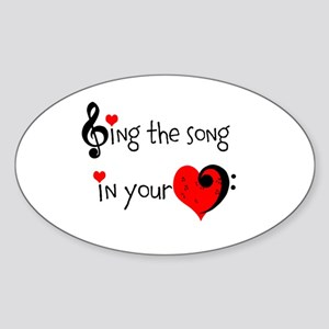 Heart Song Sticker (Oval)