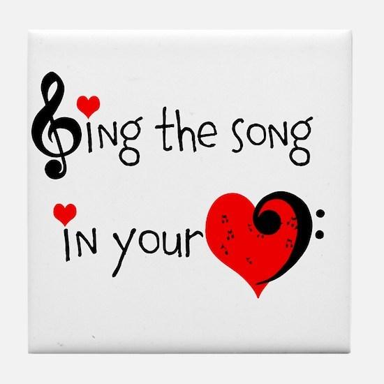 Heart Song Tile Coaster