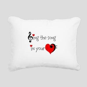 Heart Song Rectangular Canvas Pillow