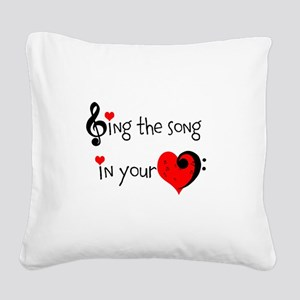 Heart Song Square Canvas Pillow
