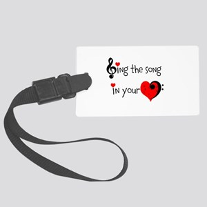 Heart Song Large Luggage Tag