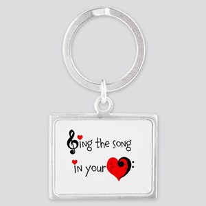 Heart Song Landscape Keychain