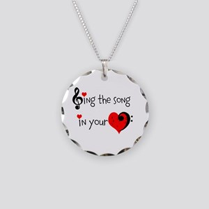 Heart Song Necklace Circle Charm