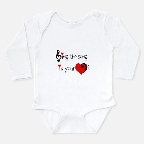 Heart Song Long Sleeve Infant Bodysuit