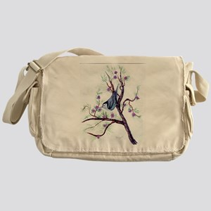 Nuthatch on a Branch Messenger Bag