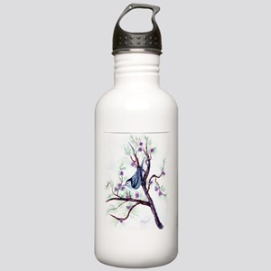Nuthatch on a Branch Stainless Water Bottle 1.0L