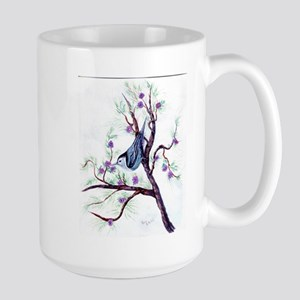 Nuthatch on a Branch Large Mug