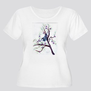 Nuthatch on a Branch Women's Plus Size Scoop Neck