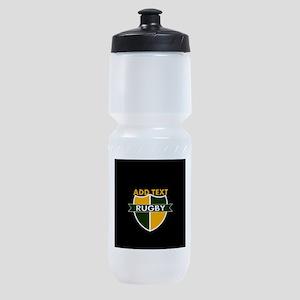Rugby Crest Green Gold BlkPz Sports Bottle