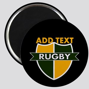 Rugby Crest Green Gold BlkPz Magnet