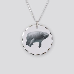 Manatee Necklace Circle Charm