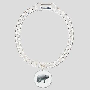 Manatee Charm Bracelet, One Charm