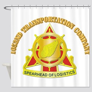 1052nd Transportation Company With text Shower Cur