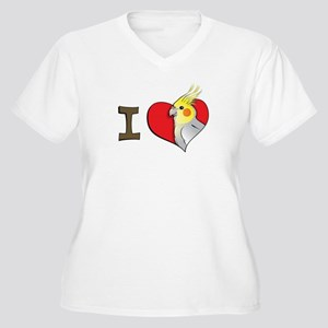 I heart cockatiels Women's Plus Size V-Neck T-Shir