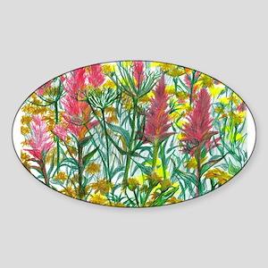FIELD OF FLOWERS Oval Sticker