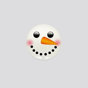 Snowman Face Mini Button
