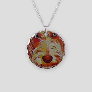 Harvey the Doodle Necklace Circle Charm