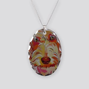 Harvey the Doodle Necklace Oval Charm