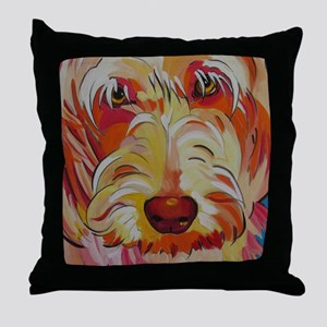 Harvey the Doodle Throw Pillow