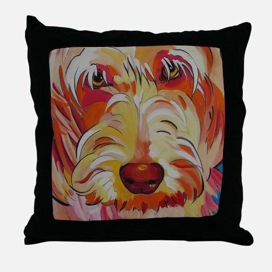 Harvey the Doodle Throw Pillow