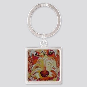 Harvey the Doodle Square Keychain