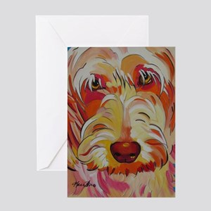 Harvey the Doodle Greeting Card
