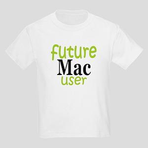 Future Mac User (green) Kids Light T-Shirt